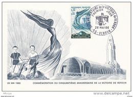 L4T003 France 1966 CM 50eme Anniversaire Victoire De Verdun 0,30+0,02 Verdun 28 05 1966 /CP Neuve - 1960-69