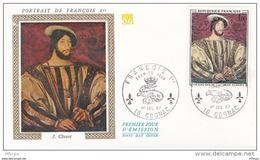 L4T029 FRANCE 1967 FDC François 1er 1,00f Cognac 01 07 1967/env. Illus. - FDC