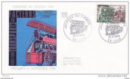 L4T059 France 1969 FDC JdT Omnibus à Impériale  030+0,10F Lille 15 03 1969 /env. Illus. - Journée Du Timbre