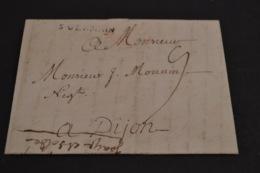 Lettre 1754 Cursive ST GERMAIN Pour Dijon - Marcophilie (Lettres)
