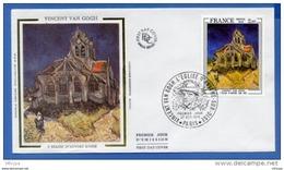 L4T493 FRANCE 1979 FDC Van Gogh Eglise D'Auvers / Oise 2,00f Paris 27 101 1979/env. Illus. - Modern
