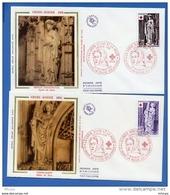 L4T963 FRANCE 1976 FDC Croix Rouge 0,80+0,20 1,00+0,25 Bourg En Bresse 20 11 1976/2 Env. Illus. - Red Cross
