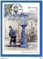 L4T995 FRANCE 1978 C M JdT Relevage Du Courrier En 1900 1,,+0,20f Lille 09 04 1978/  Carte Ecrite. - Cartes-Maximum