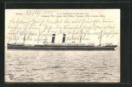 AK Passagierschiff SS Finland Der Red Star Line - Paquebots
