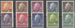 1958 Christmas Island Country Name Overprint On Australia QEII Definitives Set (** / MNH / UMM) - Christmas Island