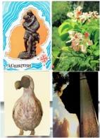 LOT 8 Cpsm - ILE MAURICE - MAURITIUS - MORNE CUREPIPE MAUVILLAC Arbre Orchidée DODO Paul & Virginie - Maurice