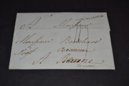 Lettre 1777 Cursive PONT DE L'ARCHE Pour Beaune - Marcophilie (Lettres)