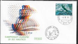 SAN MARINO - 1979 - CAMPIONATO EUROPEO DI SCI NAUTICO - 06.09.1973 SU BUSTA F.D.C. (ROMA) - NON VIAGGIATA - Ski Nautique