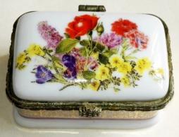 """Coffret En Porcelaine Ancienne Et Petite """"Fine Porcelaine"""" - 6,5x3,5cm - Cajas/Cofres"""