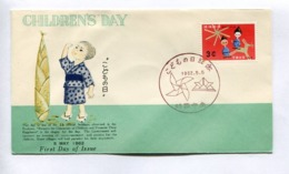 CHILDREN'S DAY - RYUKYU ISLANDS, YEAR 1962, FIRST DAY OF ISSUE FDC -LILHU - Ryukyu Islands