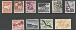 1963 Christmas Island Definitives: Birds, Marine Life, Flora, Railway, Ships Set (** / MNH / UMM) - Christmas Island