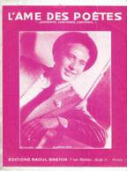 Partition Musicale Ancienne  , CHARLES TRENET , L'AME DES POETES , Frais Fr 1.85e - Partitions Musicales Anciennes