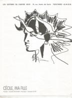 Partition Musicale Ancienne  , CLAUDE NOUGARO , CECILE MA FILLE , Frais Fr 1.85e - Partitions Musicales Anciennes