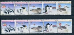 Australian Antartic Territory 2 Strips Of 5 Stamps (1 Used & 1 MINT) - Australisch Antarctisch Territorium (AAT)