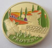 France - Médaille Souvenir Et Patrimoine PACA (Provence Alpes Côte D'Azur) - Métal Doré Et Peint - Touristiques