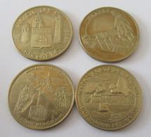 """France - 4 Médailles """"Trésors De France"""" - Reignac, Chamonix, Alésia, Roscoff - 2008 à 2011 - Arthus Bertrand - Autres"""