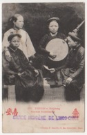 "° VIÊT - NAM  ° TONKIN ° HAÏPHONG ° FEMMES MUSICIENNES ° CACHET ""GARDE INDIGENE DE L'INDO-CHINE"" Et Voir Scan Du Dos ° - Viêt-Nam"