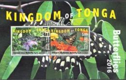 Tonga MNH Sheetlet, 2016 - Butterflies