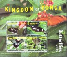 Tonga MNH Sheetlet, 2015 - Butterflies