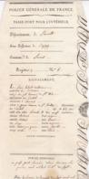 PASSE PORT INTERIEUR 1818 / HERAULT / BEZIERS / HIBERT / CORDONNIER - Documents Historiques