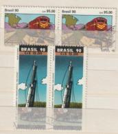 BRAZILIË / BRASIL - 1990 - Restantenlotje Uit Het Jaar 1990 - Gebraucht/gestempeld/Oblit./Used - ° - Brésil