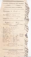 PASSE PORT INTERIEUR 1817 / HERAULT / BEZIERS / ILIDE / CANTAL / CORDONNIER - Documents Historiques