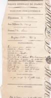PASSE PORT INTERIEUR 1817 / HERAULT / BEZIERS / SERVIAN / GOUROU / CHARRETIER - Historische Dokumente