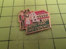 710g PINS PIN'S / Beau Et Rare : Thème MARQUES / ALSACE HOTEL PARC DES CIGOGNES - Marques