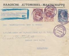 Nederlands Indië - 1924 - 2x Fl.5,- Wilhelmina Van Der Hoop Vlucht - Vliegtocht Nederland - Indië Naar Soerabaja - Nederlands-Indië