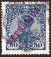 """Portugal 1910 - Rei D. Manuel II  50r Mundifil Nr. 176 Côte € 4.00 Sobrecarga """" REPUBLICA """". - 1910-... République"""