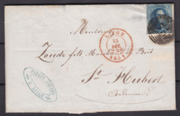 N° 7 Margé  De Liege Vers St Hubert  Planche I   15 Dec 1851 Lac - 1851-1857 Medaglioni (6/8)