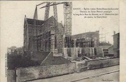 Nancy église ND De Lourdes Travaux Futur Portail 1er Décembre 1921 - Nancy