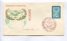 INTERNATIONAL CO-OPERATION YEAR - RYUKYU ISLANDS, YEAR 1965, FIRST DAY OF ISSUE FDC -LILHU - Ryukyu Islands