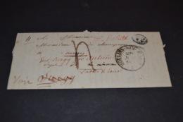 Lettre 1839 Moulins Sur Allier Pour Curgy Cachet ID + Cursive Rouge REBUTS Cachet Autun/Chalon/Clamecy - 1801-1848: Précurseurs XIX
