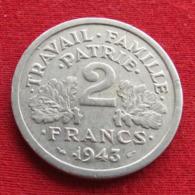 France 2 Francs 1943 KM# 904.1 Lt 410 França Francea Francia - Autres