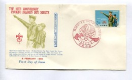 THE 10th ANNIVERSARY RYUKYU ISLAND BOY SCOUTS - RYUKYU ISLANDS, YEAR 1965, FIRST DAY OF ISSUE FDC -LILHU - Ryukyu Islands