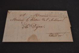 Lettre 1827 Cursive P23P Perigueux Pour Dijon - 1801-1848: Précurseurs XIX