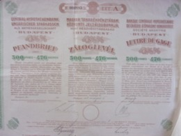 LETTRE GAGE / 1911 BANQUE CENTRALE HYPOTHECAIRE CAISSES EPARGNE HONGROISES MAGYAR BUDAPEST HUNGARY HONGRIE ZALOGLEVEL - Non Classificati