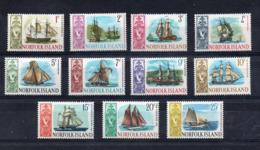 ISOLA NORFOLK - 1966 - Velieri - 11 Valori . Nuovi .- Linguellati - (FDC16900) - Isola Norfolk