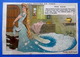 CHROMO RICQLES....CONTES DE FÉES...DESSINS DE GERBAULT.....PEAU D 'ÂNE..... N° 2 - Trade Cards