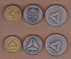 AC - AMANO PARKING TOKENS ISTANBUL BRASS - NICKEL TOKEN JETON - Monétaires / De Nécessité