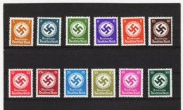 EBA579 DEUTSCHES REICH  1942 MICHL 166/77  DIENST ** Postfrisch Siehe ABBILDUNG - Deutschland