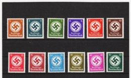 EBA580 DEUTSCHES REICH  1942 MICHL 166/77  DIENST ** Postfrisch Siehe ABBILDUNG - Deutschland