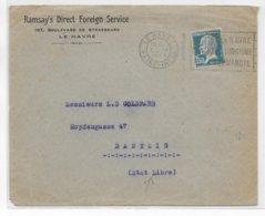 1927 - PASTEUR SEUL Sur LETTRE De LE HAVRE => DANZIG (ETAT LIBRE) DESTINATION ! - Poststempel (Briefe)
