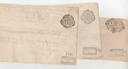 Bretagne Vannes 3 Quarts De Papier 1 De 1737 Et 2 De 1764 - Manuscrits