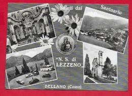 CARTOLINA VG ITALIA - Saluti Dal Santuario NS Di LEZZENO - BELLANO (CO) - Vedutine Multivue - 10 X 15 - 1961 - Gruss Aus.../ Grüsse Aus...