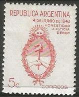 Argentina - 1943 Coup D'Etat 5c MNH **     Sc 508 - Argentina