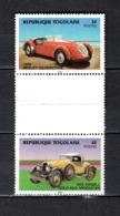 TOGO N° 1155 + 1156 SE TENANT  NEUF SANS CHARNIERE COTE  ? € AUTOMOBILE VOITURE ANCIENNE RARE VOIR DESCRIPTION - Togo (1960-...)