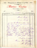 34.HERAULT.BEZIERS.ENTREPRENEUR DE PLATRERIE & DE PUITS.MARIUS CASTAN 55 ROUTE DE L'ABATTOIR. - Petits Métiers