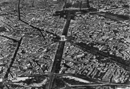 PARIS - VUE AERIENNE - DATED 1954 ~ AN OLD REAL PHOTO POSTCARD #96787 - France